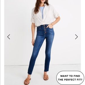 NWT Size 31 Madewell High Rise Skinny Jeans